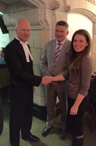 Yulia with new Candadian house speaker Geoff Reagan.