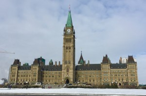 Canadian parliament from the outside.