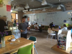 "The ""Hub"" co-working space in Odesa."